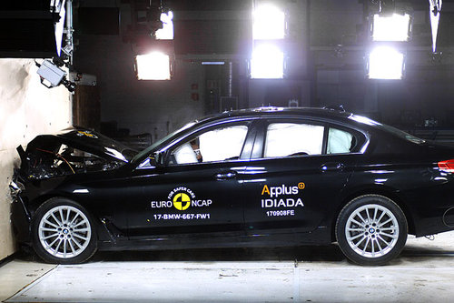 BMW 5er überzeugt bei Euro-NCAP-Crashtest BMW 5er Crashtest Euro NCAP 2017