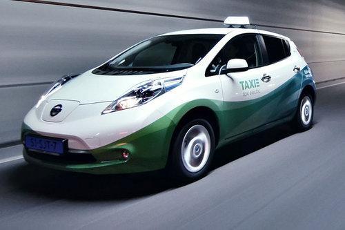Zusehends gefragt: Taxis mit E-Antrieb Nissan Leaf Taxi 2017