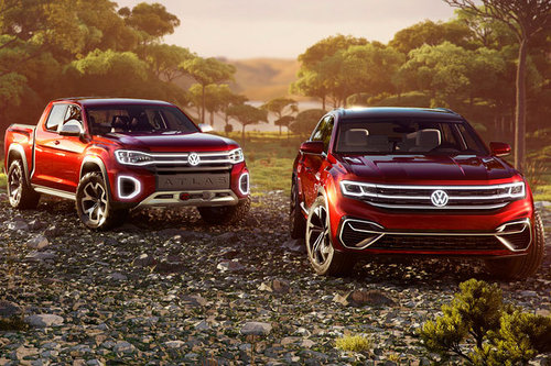 New York Auto Show: VW vergrößert Atlas-Familie VW Atlas Cross Sport Tanoak 2018