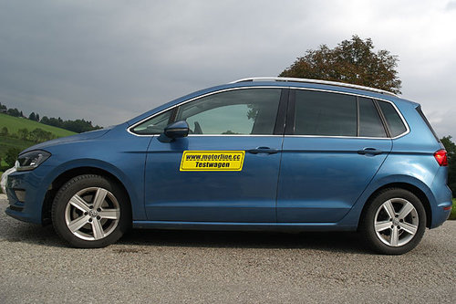 vw golf sportsvan 1 6 tdi dsg sky im test autotests. Black Bedroom Furniture Sets. Home Design Ideas