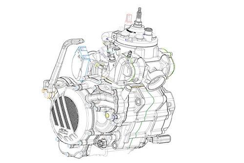 KTM Motor zweitakt exc 2017
