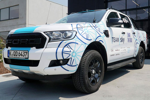 Ford mit Ranger-Pickup bei Tour de France