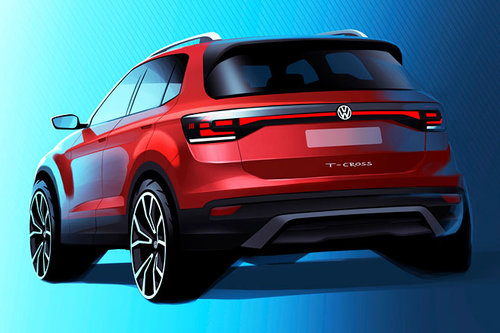 VW bringt Klein-SUV T-Cross in Serie VW Volkswagen T-Cross 2018